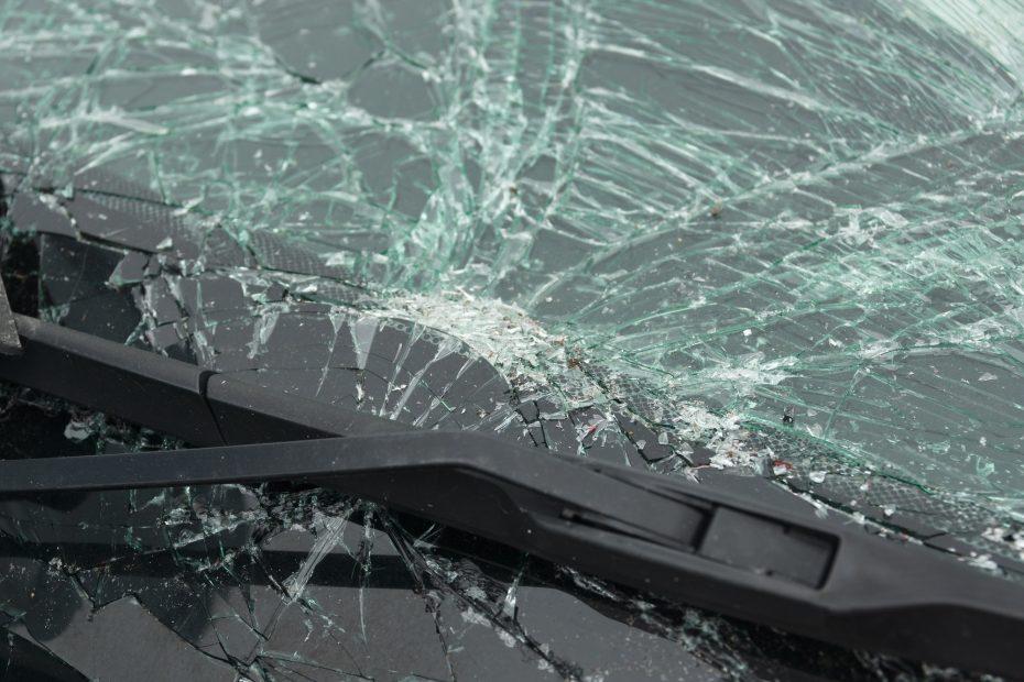 Smashed Vehicle Windshield